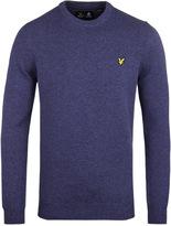 Lyle & Scott Navy Marl Crew Neck Lambswool Sweater