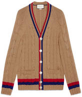 Gucci Wool cable-knit cardigan