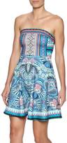 Flying Tomato Tribal Strapless Dress