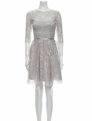 Nha Khanh Crew Neck Knee-Length Dress Silver