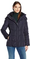 Calvin Klein Women's Down Puffer Short Coat with Hood