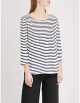 Chinti and Parker Cocktail motif striped cotton top