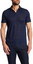 Vince Short Sleeve Striped Linen Polo