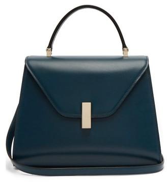 Valextra Iside Medium Leather Bag - Womens - Blue