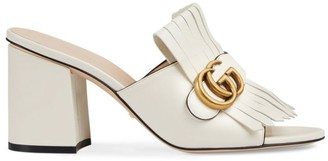 Gucci GG Marmont Slide Heeled Sandals