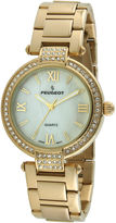 Peugeot Womens Crystal-Accent Gold-Tone Bezel Gold-Tone T-Bar Bracelet Watch