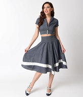 High Waisted Skirt With Crop Top - ShopStyle