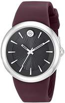 Philip Stein Teslar ' Japanese Quartz Stainless Steel and Silicone Watch, Color:Purple (Model: F36S-LCB-PR)