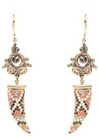 Roberto Cavalli Tusk and Serpent embellished earrings