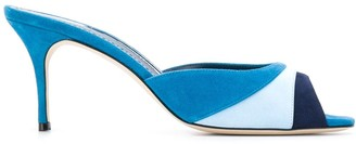 Manolo Blahnik Sue colour block mules