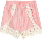H&M Shorts with Lace Details - Pink - Ladies
