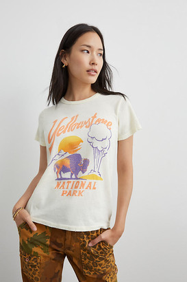 Junk Food Clothing Yellowstone Graphic Tee By in Yellow Size XS