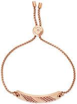 Michael Kors Rose Gold-Tone Pavé Slider Bracelet