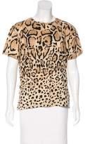 Gucci Short Sleeve Leopard Print T-Shirt