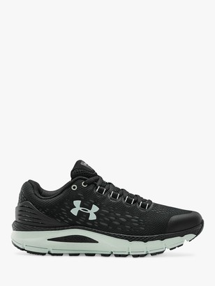 Under Armour Charged Intake 4 Women's Running Shoes, Black/White/Seaglass Blue