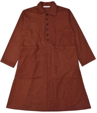 Lanefortyfive Musta2 Women's Coat - Burnt-Orange Speckled Tweed