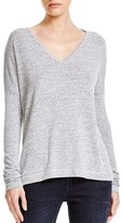 Rag & Bone Theo Long-Sleeve V-Neck Tee