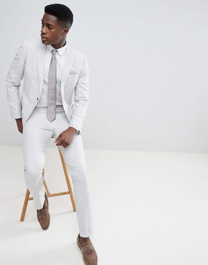 Reiss Slim Suit Pant In Linen