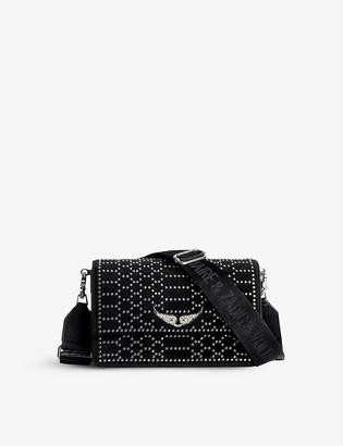 Zadig & Voltaire Lolita stud-embellished suede cross-body bag