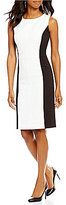 Preston & York Lexie Stretch Crepe Sleeveless Sheath Dress