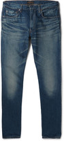 Beams Slim-Fit Washed Selvedge Denim Jeans