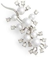 Oscar de la Renta Women's Scattered Imitation Pearl & Crystal Brooch