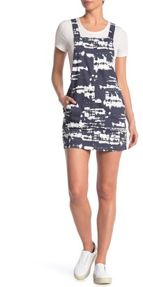 Love, Fire Printed Overall Mini Dress