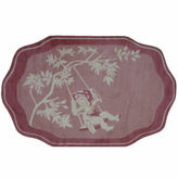 Asstd National Brand Pink Toile Rectangle Rugs