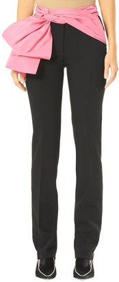 Carolina Herrera Removable Sash Straight Leg Trousers