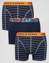 Jack and Jones Trunks 3 Pack Stripe