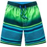 OCHENTA Men's Summer Active Quick Dry Surfing Swimming Board Shorts Blue Flag