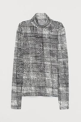 H&M Jersey Turtleneck Top - White