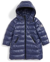 Moncler Toddler Girl's Moka Long Hooded Waterproof Down Jacket