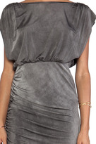 Alice + Olivia High Cowl Ruched Skirt Dress