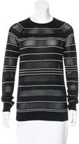 Jason Wu Stripe Silk Sweater
