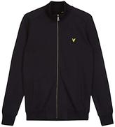 Lyle & Scott Long Sleeve Tricot Jacket, True Black