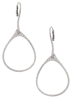 Etho Maria Diamond 18K White Gold Oval Drop Earrings