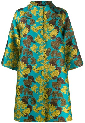 Gianluca Capannolo Oversized Leaf Embroidered Coat