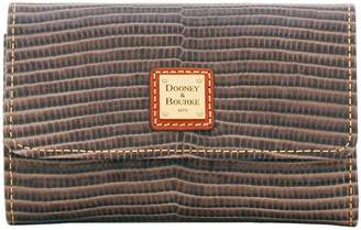 Dooney & Bourke Embossed Lizard Flap Wallet