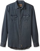 Wrangler Men's Big and Tall Retro Button Front Long Sleeve Shirt