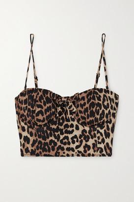 Ganni Leopard-print Underwired Bikini Top - Leopard print