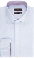 John Lewis Non Iron Semi Plain Tailored Fit Xl Sleeve Shirt, Light Blue