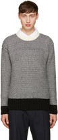 Ami Alexandre Mattiussi Black & White Wool Sweater