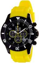 Ice Watch Ice-Watch Men's Chrono CH.BY.B.S.10 Yellow Silicone Quartz Watch with Dial
