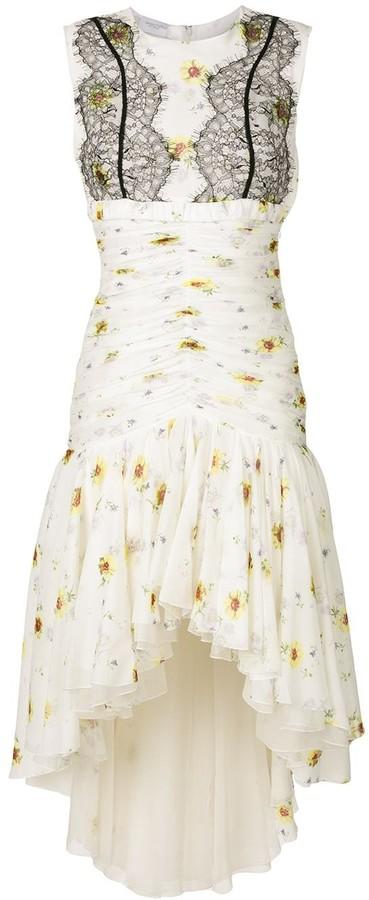 Giambattista Valli Floral Lace-Detail Dress