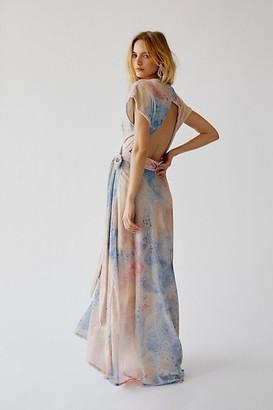 Free People Desert Flower Velvet Maxi Dress