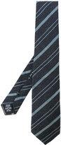 Giorgio Armani woven stripe tie - men - Silk/Viscose/Wool - One Size