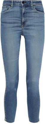 Rag & Bone Nina Zip-detailed Faded High-rise Skinny Jeans