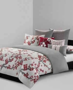 Natori Cherry Blossom Queen 3 Piece Duvet Cover Mini Set Bedding