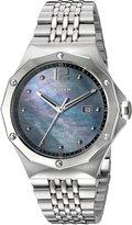 Edox Women's 54004 3M NANN Delfin Analog Display Swiss Quartz Silver Watch